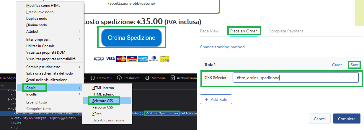 tiktok-pixel-evento-click-selettore-css